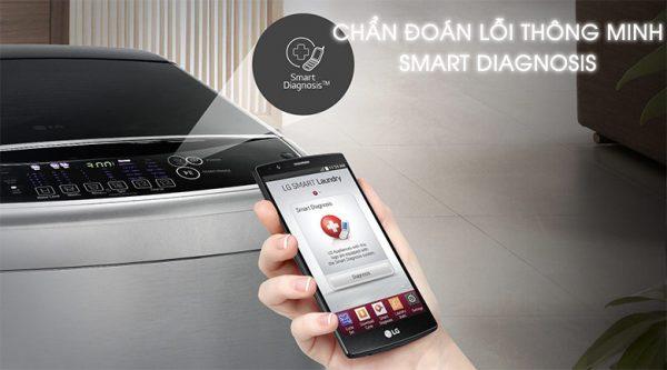 Cách test lỗi máy giặt LG hiệu quả bằng tính năng Smart Diagnosis.