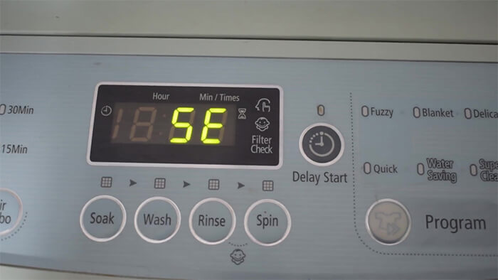Máy giặt Samsung báo lỗi 5E – Xử lý trong 15 phút triệt để ngay tại nhà