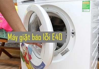 Máy giặt Electrolux báo lỗi E40 – Xử lý nhanh gọn ngay tại nhà